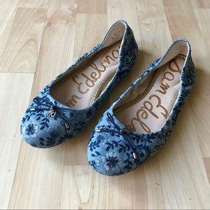 Sam Edelman Embroidered Flats Size 8.5